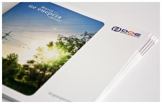 Корпоративный буклет энергоснабжающей компании